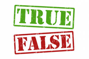 True or false quiz questions